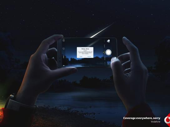 Vodafone Print Ad - Sorry / Meteor, Print
