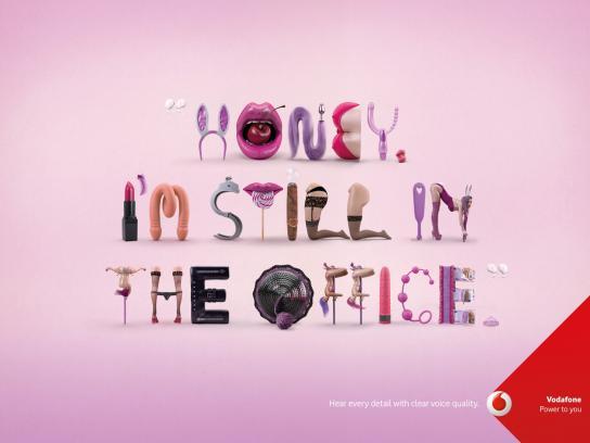 Vodafone Print Ad -  Honey