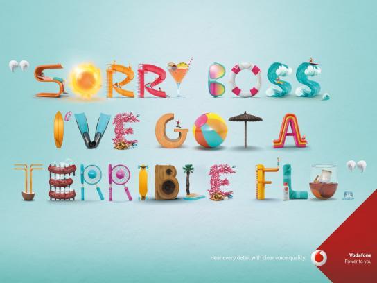 Vodafone Print Ad -  Boss
