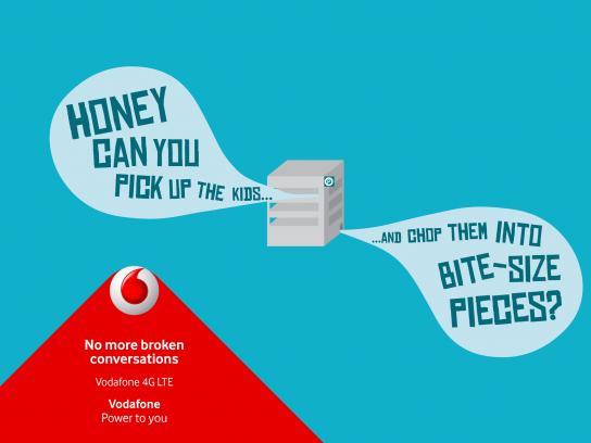 Vodafone Print Ad -  Broken conversation, 1