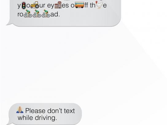 Vodafone Print Ad -  Message, 2
