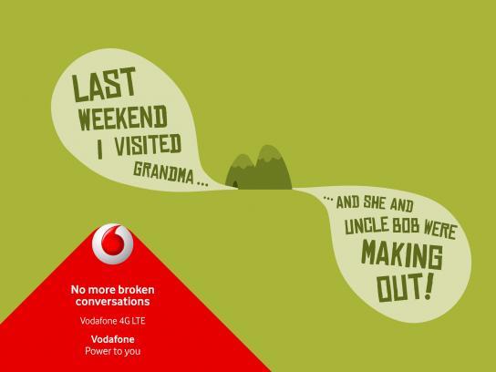Vodafone Print Ad -  Broken conversation, 2