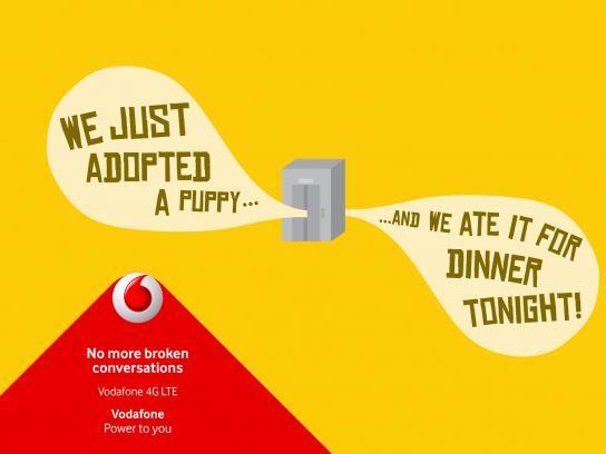 Vodafone Print Ad -  Broken conversation, 3