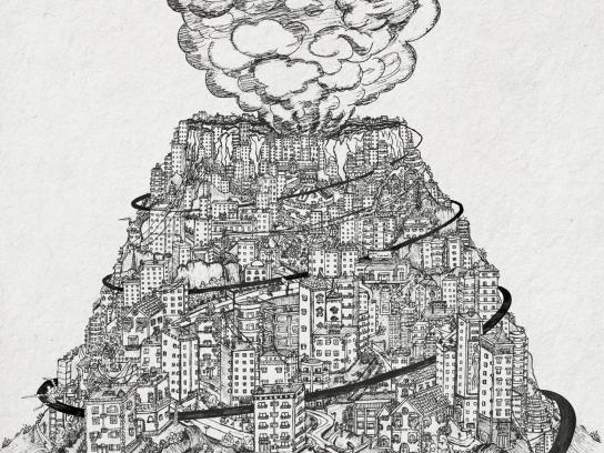 Durulax Print Ad -  Volcano