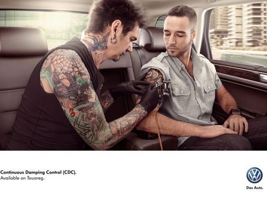 Volkswagen Print Ad -  Tattoo artist