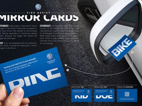 Volkswagen Direct Ad - Mirror Cards