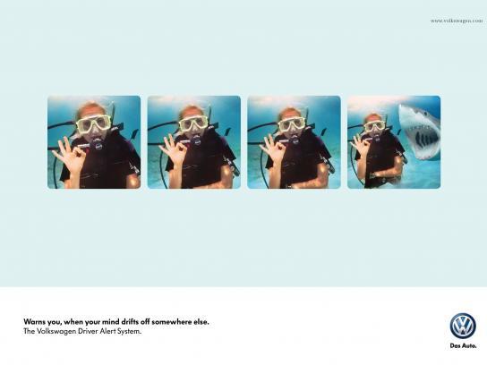 Volkswagen Print Ad -  Diver