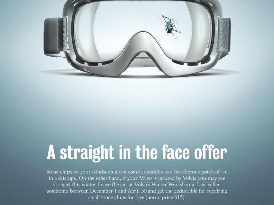 Volvia Print Ad -  Goggles