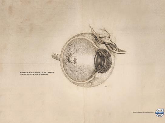 Volvo Print Ad -  Cyclist