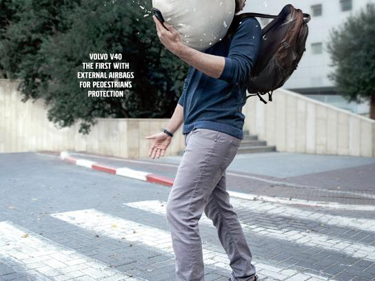 Volvo Print Ad - Pedestrian protection