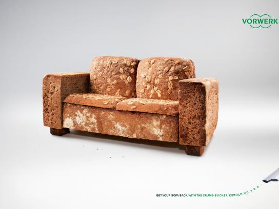 Vorwerk Print Ad -  Get your sofa back, 1