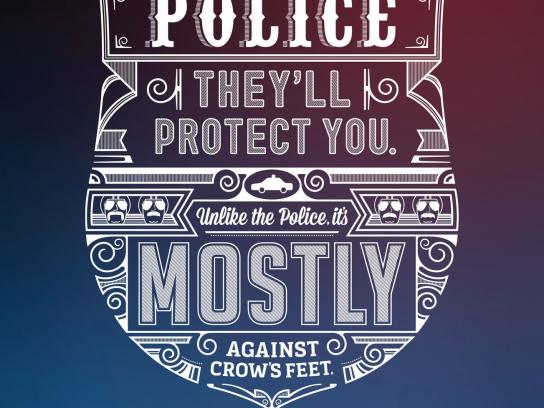 Vancouver Police Foundation Outdoor Ad -  Crows feet