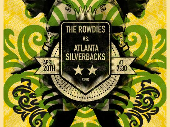 Tampa Bay Rowdies Outdoor Ad -  vs. Atlanta Silverbacks