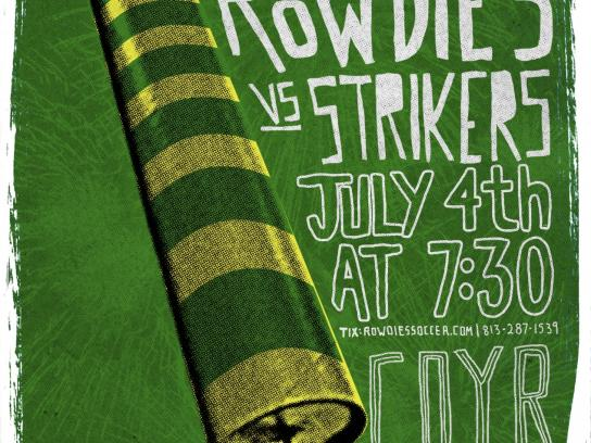 Tampa Bay Rowdies Outdoor Ad -  vs. Ft. Lauderdale Strikers