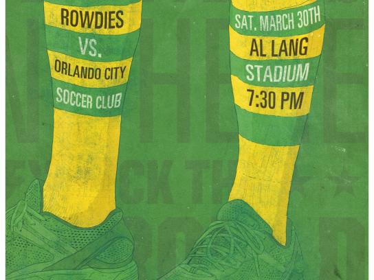 Tampa Bay Rowdies Outdoor Ad -  vs. Orlando City