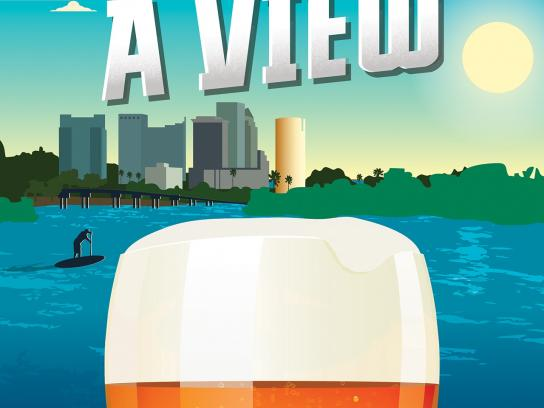 Visit Tampa Bay Print Ad -  Brew with a view