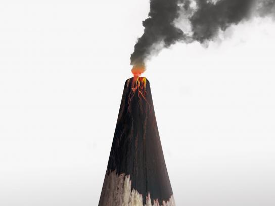 Faber Castell Print Ad - Volcano