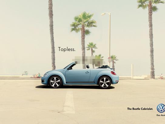 Volkswagen Print Ad -  Topless