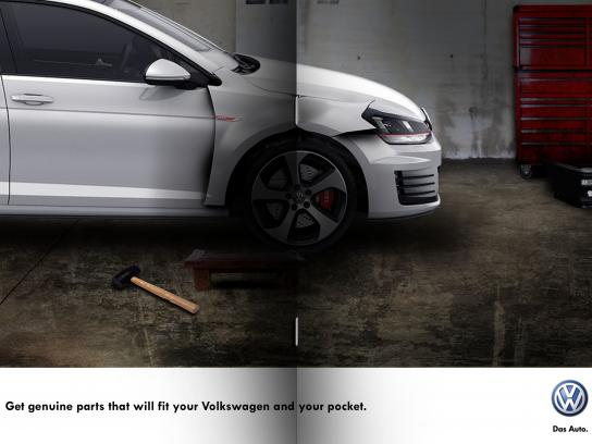 Volkswagen Print Ad - VW genuime parts