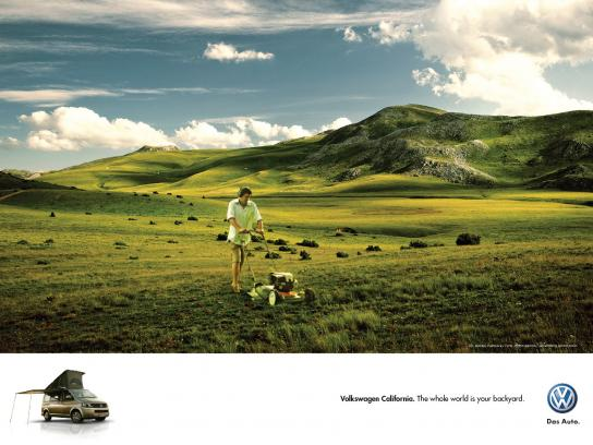 Volkswagen Outdoor Ad -  Backyard, 3