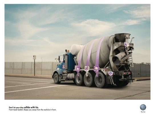 Volkswagen Print Ad -  Collision