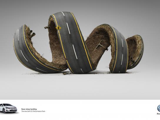 Volkswagen Print Ad -  Razor-sharp handling