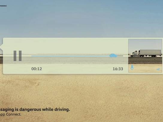 Volkswagen Print Ad - The Voice Message