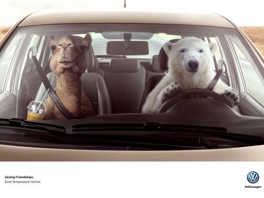 Volkswagen Print Ad - Bear & Camel