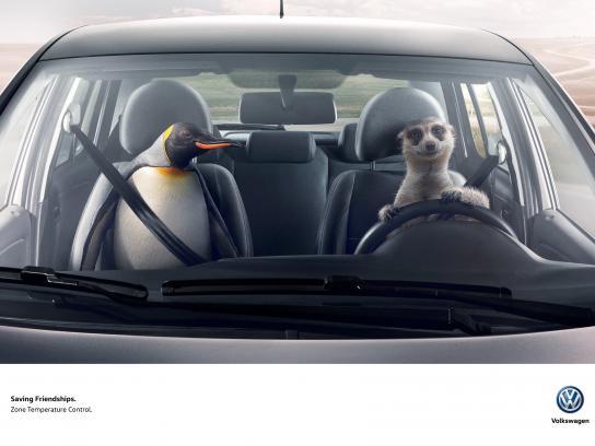 Volkswagen Print Ad - Meerkat & Penguin