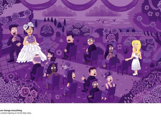 Volkswagen Print Ad - The Bride