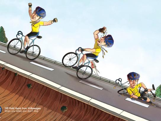 Volkswagen Print Ad -  Lance Armstrong