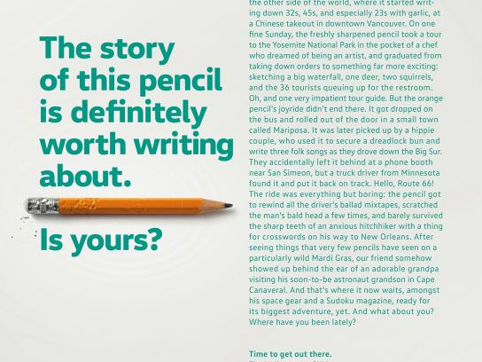 Volkswagen Print Ad - Pencil