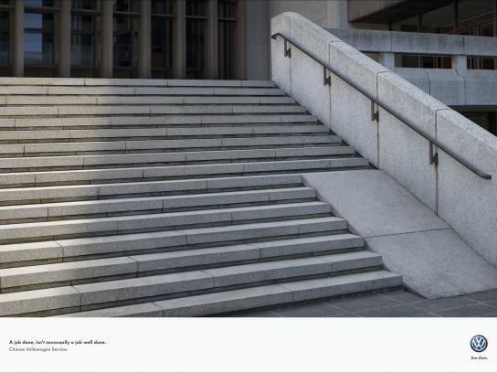 Volkswagen Print Ad -  Wheelchair ramp