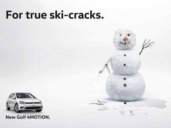 Volkswagen Outdoor Ad - Ski-cracks