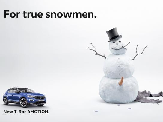 Volkswagen Outdoor Ad - Snowmen