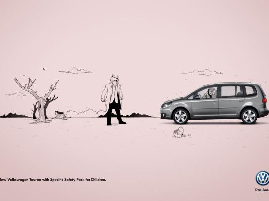 Volkswagen Print Ad -  Little Red Riding Hood