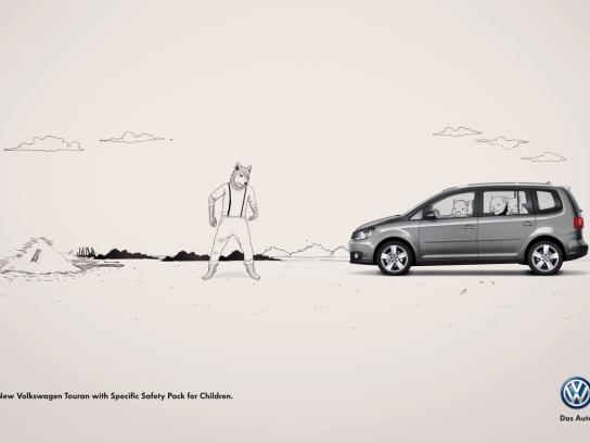Volkswagen Print Ad -  The Three Little Pigs