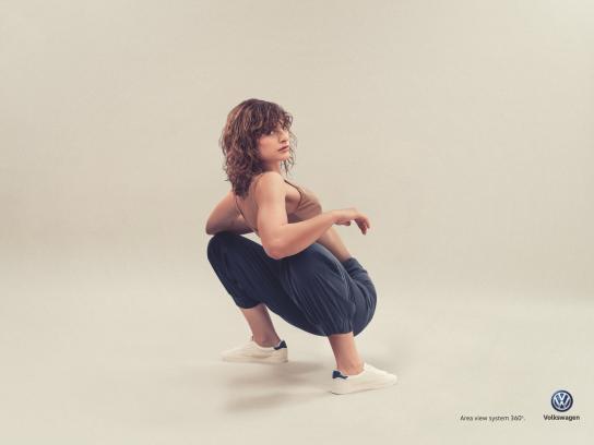 Volkswagen Print Ad - Girl