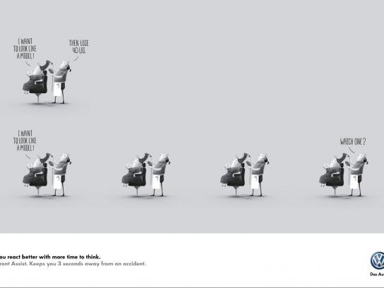Volkswagen Print Ad -  Saloon