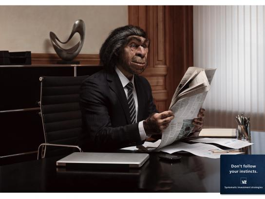 VZ Wealth Management Print Ad -  Caveman, 1