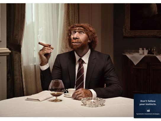 VZ Wealth Management Print Ad -  Caveman, 2
