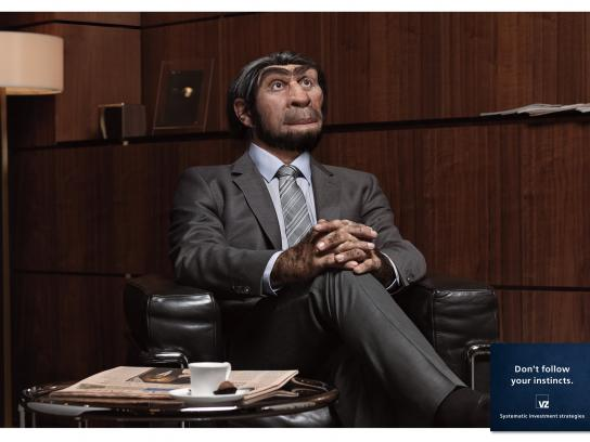 VZ Wealth Management Print Ad -  Caveman, 3