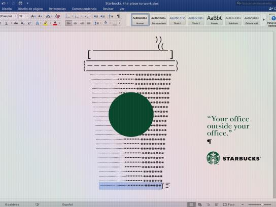 Starbucks Print Ad - Word