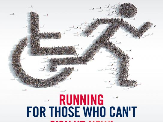 Red Bull Print Ad -  Wings for Life Worldrun