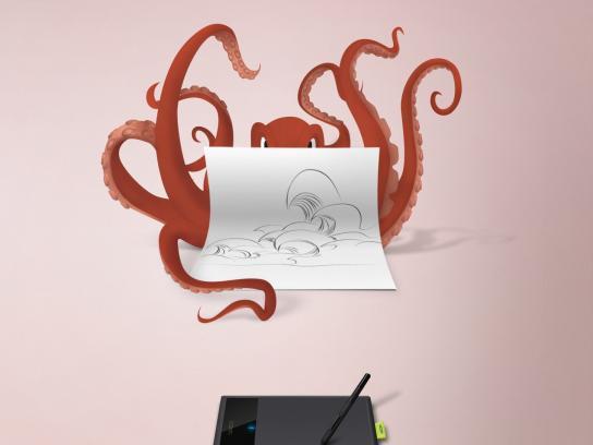 Wacom Print Ad -  Octopus