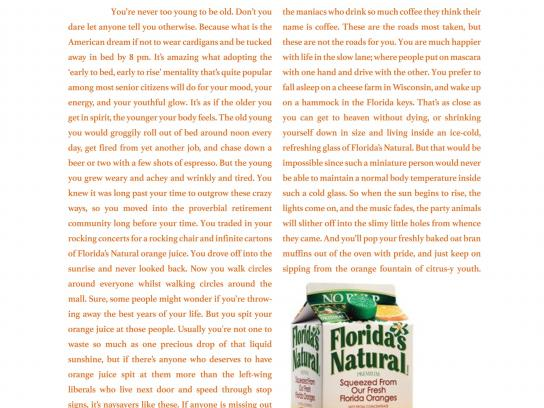 Florida's Natural Print Ad -  New old