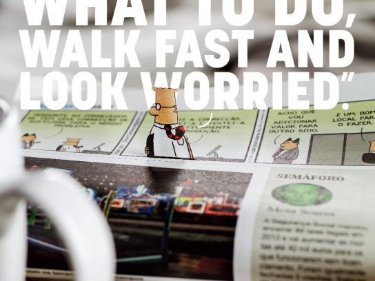 Jornal i Print Ad -  Walk Fast