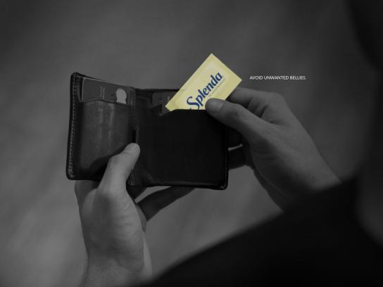 Splenda Print Ad - Unwanted Bellies - Wallet