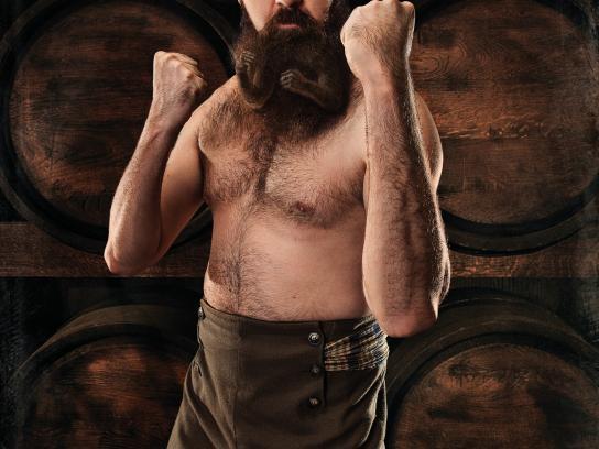 Warlord Beard Oil Print Ad - Bare knuckles