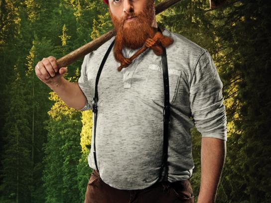 Warlord Beard Oil Print Ad - Lumberjack